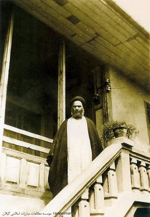آیت الله سیدابوطالب پیشوایی در منزل شخصی خودشان- سال 1328 شمسی