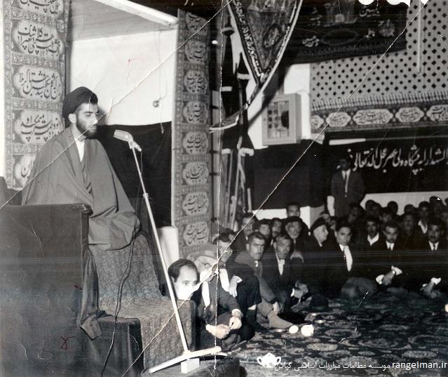 اولین سخنرای حجت الاسلام پیشوایی در مسجد جامع انزلی سال 1343