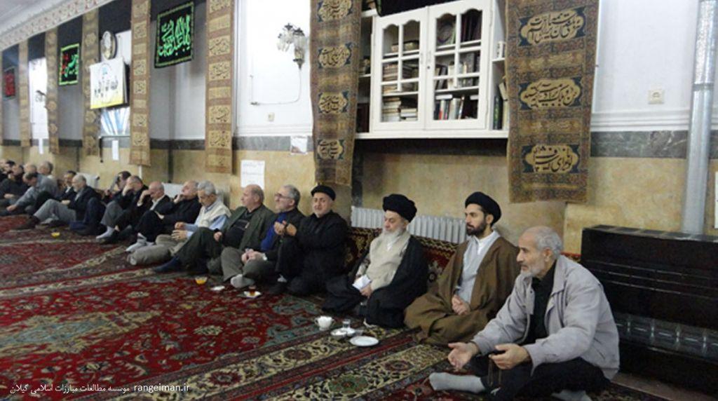 آیت الله سیدمجتبی رودباری در مراسم آیت الله سیدمهدی رودباری در مسجد کاسه فروشان