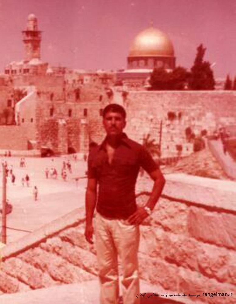 شهید جلیل احمدی نژاد در بیت المقدس