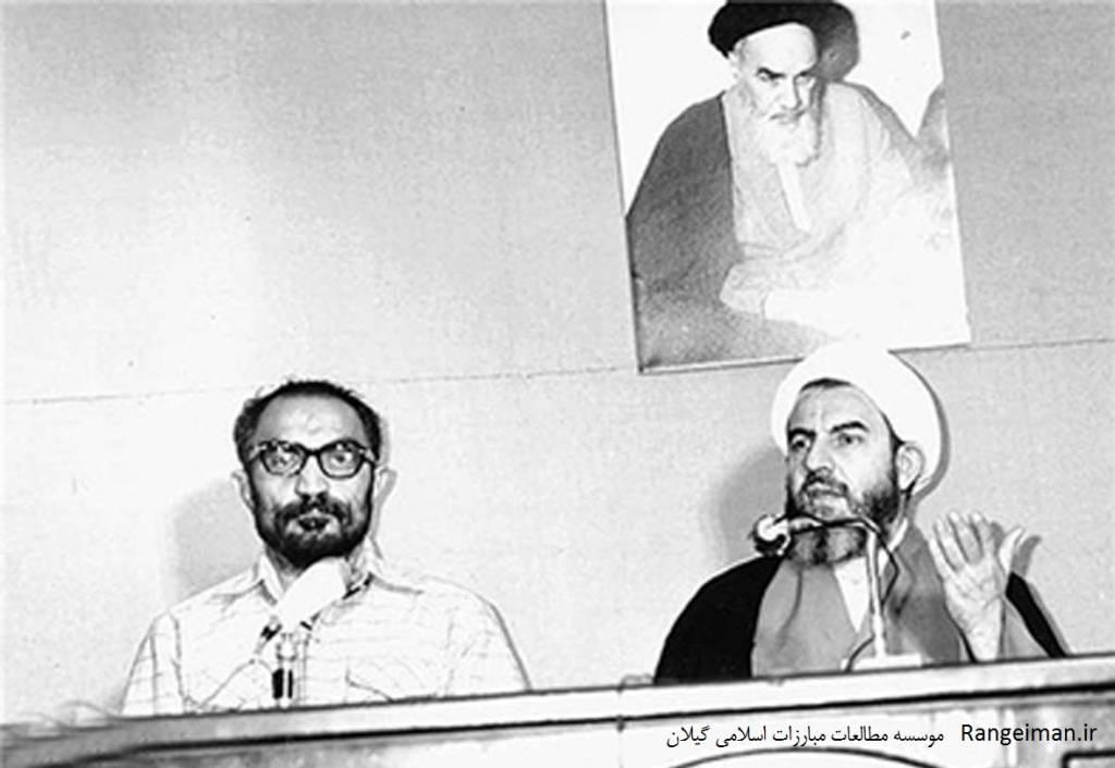 از راست آیت الله محمدی گیلانی و شهید لاجوری دادستان وقت انقلاب تهران- فارس نیوز