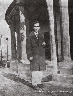 پورداود در دانشگاه ویسو بهارتی هند - یادنامه پورداود، ج۱، ص۵۴