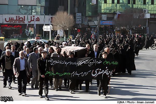تشییع پیکر خانم شهربانو صفری در مشهد (۴)