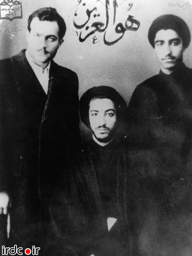 شهید سید مجتبی نواب صفوی به همراه عبدالحسین واحدی و حسین فاطمی