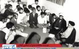 تصویر حجت الاسلام شهید سلیمی پور رودسری در کنار حضرت امام