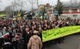 تصاویر حضور مردم لاهیجان در جشن چهل سالگی انقلاب اسلامی